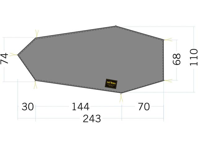 Tatonka LT Kyrkja Floor Sheet 243x68/110cm, stone grey olive